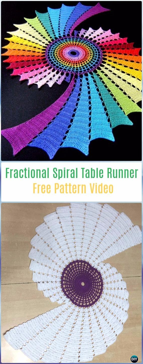 Crochet Table Runner Patterns Easy Interesting Design