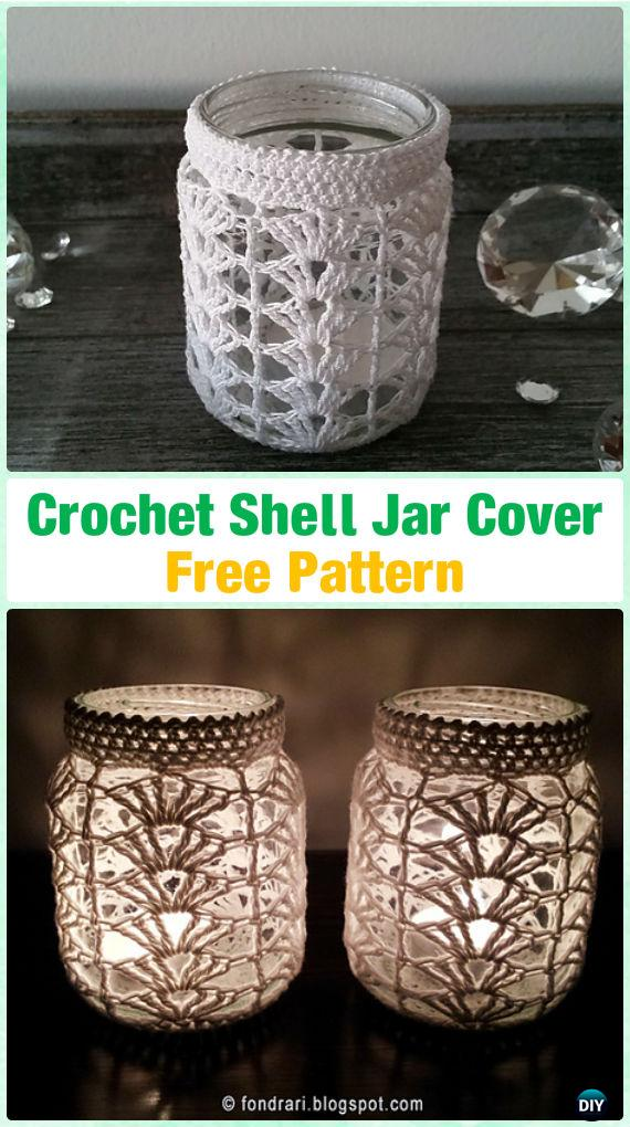 Crochet Candle Jar Cozy Free Patterns