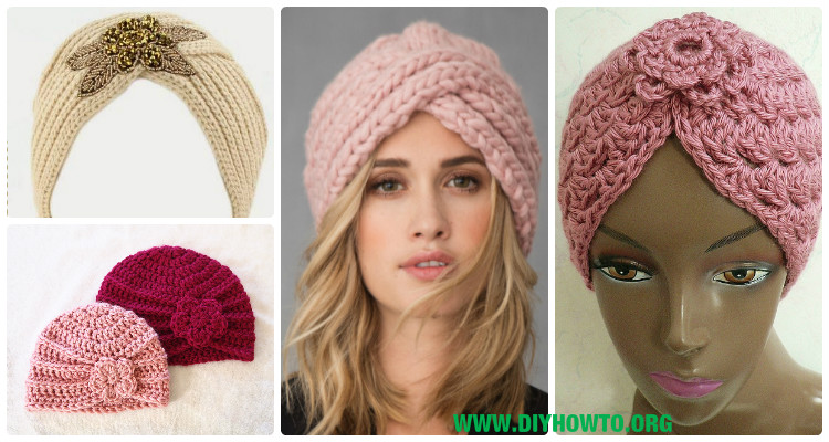 Crochet Turban Hat Free Patterns Instructions