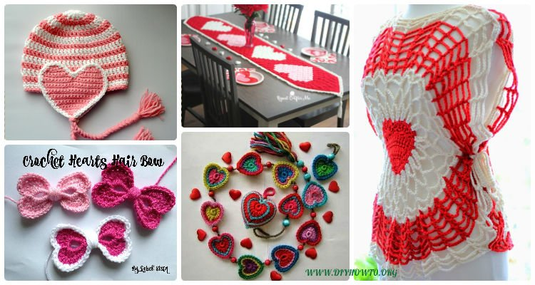 Free Crochet Patterns Gift Ideas : Crochet Valentine Heart Gift Ideas Projects Free Patterns