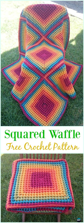 Crochet Waffle Stitch Free Patterns & Variations