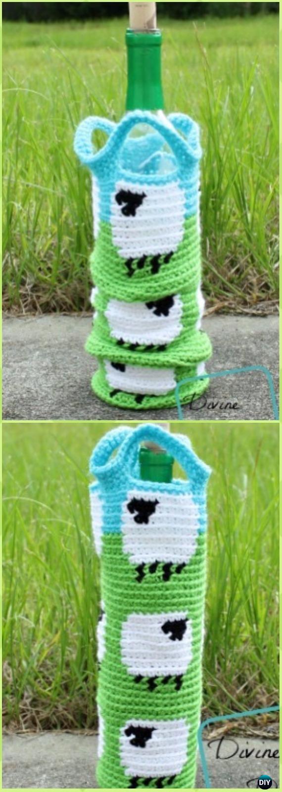 Crochet Wine Bottle Cozy Bag Amp Sack Free Patterns