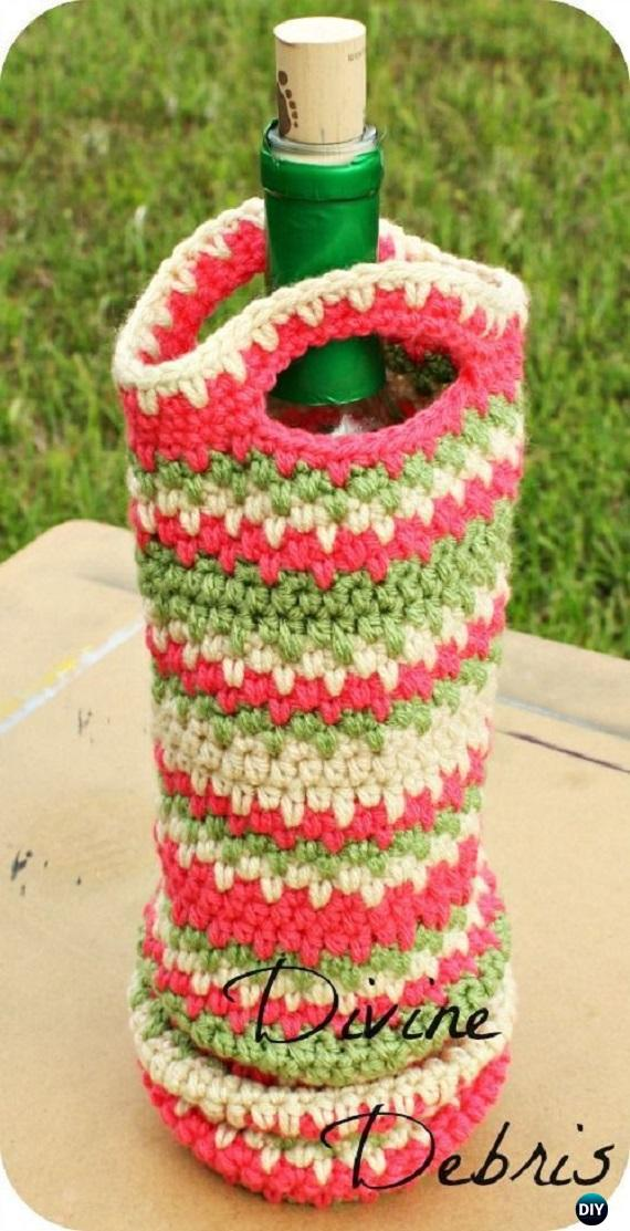 Crochet Wine Bottle Cozy Bag Amp Sack Free Patterns