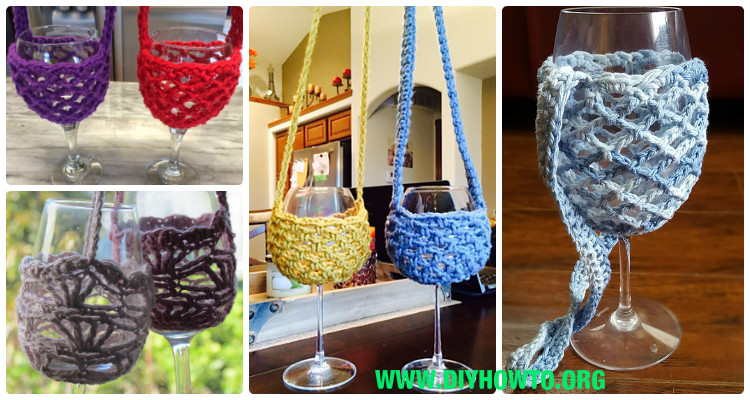 Free Pattern Crochet Wine Glass Holder : Crochet Wine Glass Lanyard Holder Free Patterns