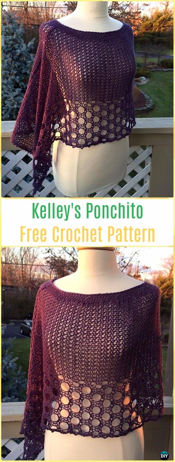 Crochet Kelley's Ponchito Free Pattern - Crochet Women Capes & Poncho Patterns