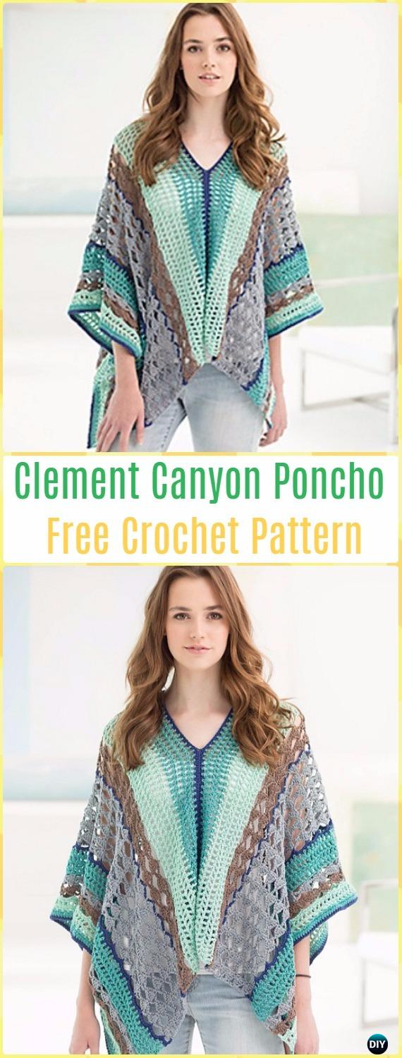 Crochet Clement Canyon Poncho Free Pattern - Crochet Women Capes & Poncho Patterns