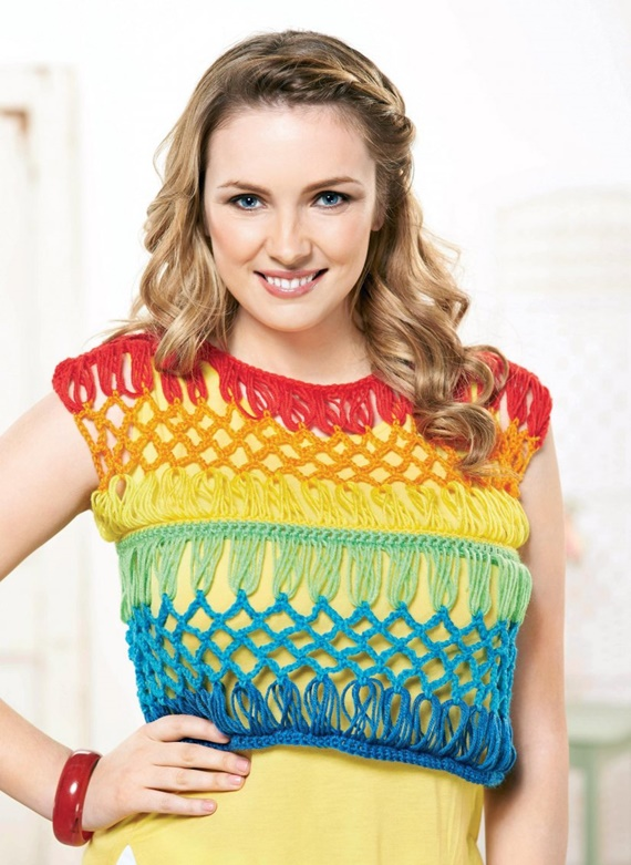 Crochet Broomstick Crop Top Free Pattern - Women #CropTop; Free #Crochet; Patterns [Summer Edition]