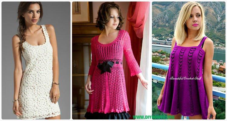 Crochet Women Dress Free Patterns Instructions