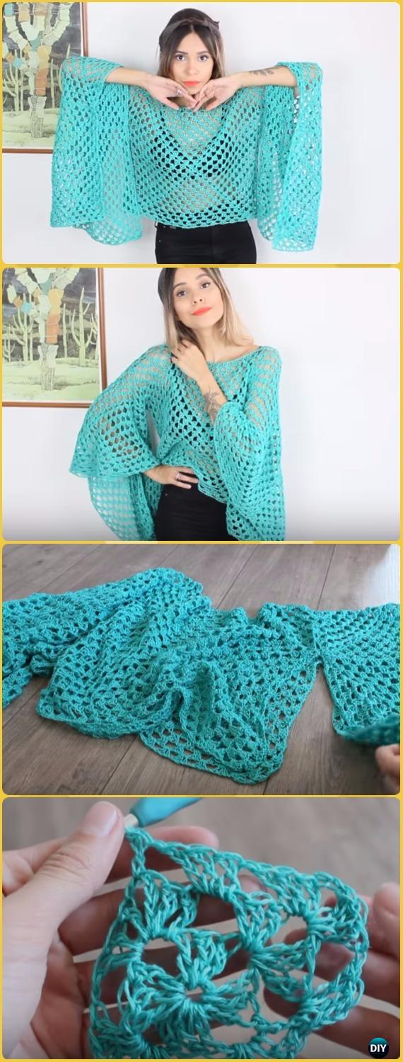 Exelent Crochet Patterns Blouse Image Collection - Sewing Pattern ...
