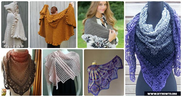 Crochet Women Shawl Outwear Free Patterns Instructions 7a6cb5bb0