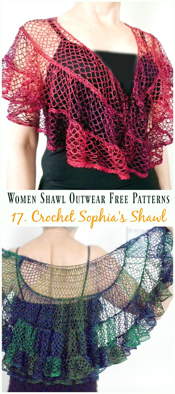 Boho Triangle Shawl Free Crochet Pattern - #Crochet; Women #Shawl; Sweater Outwear Free Patterns