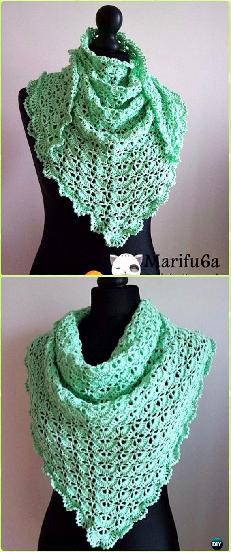 Crochet Spring Baktus Wrap Shawl Free Pattern Video Crochet Women