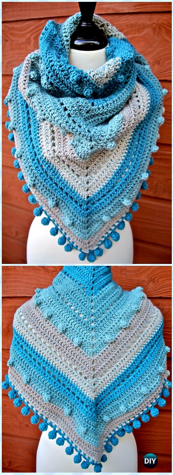 Crochet Women Shawl Outwear Free Patterns Instructions