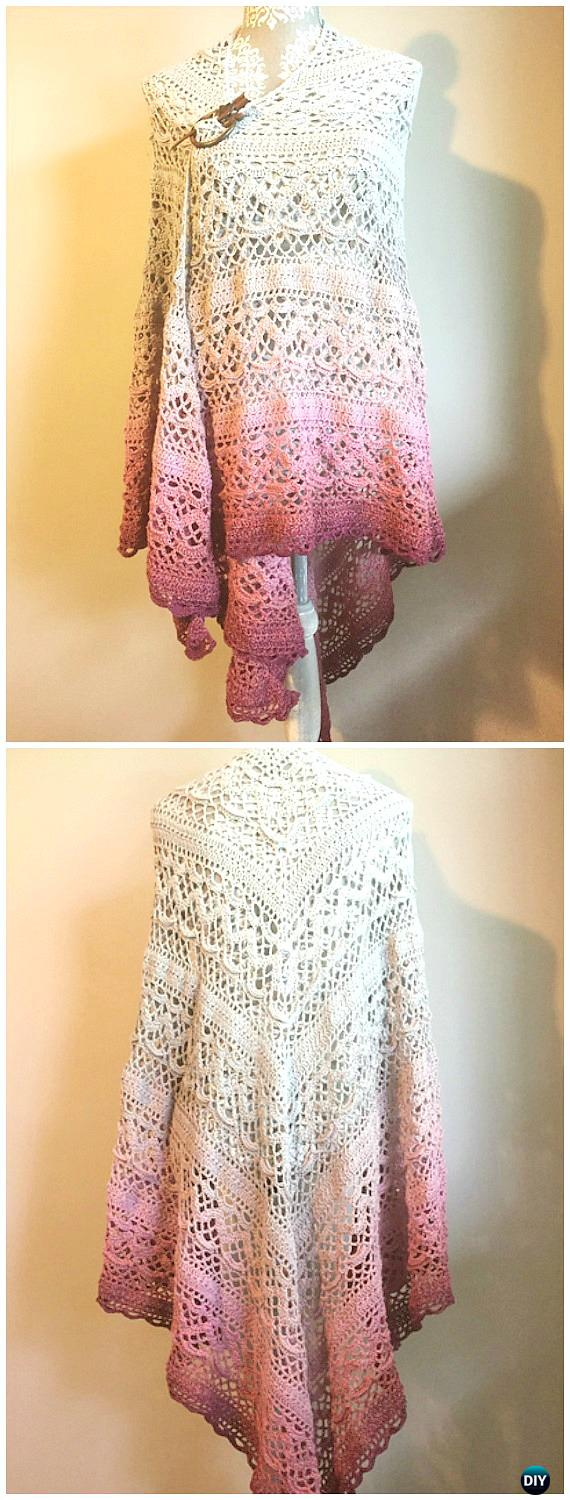 Crochet Klaziena Shawl Free Pattern -  Crochet  Women  Shawl  Sweater  Outwear Free 6f9da2381