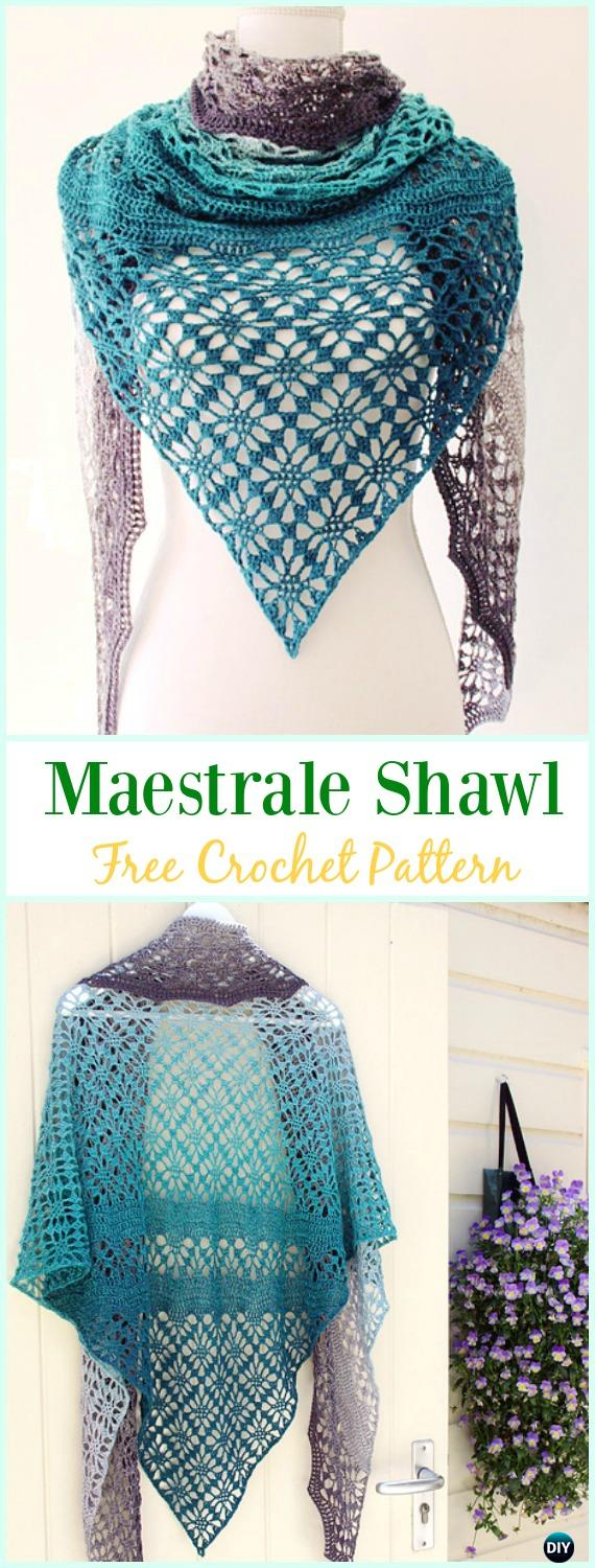 Crochet Maestrale Shawl Free Pattern -  Crochet  Women  Shawl  Sweater  Outwear Free 37880076e