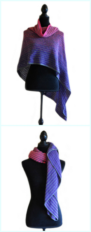 Crochet The Tube Thing Lines Shawl Free Pattern - #Crochet; Women #Shawl; Sweater Outwear Free Patterns