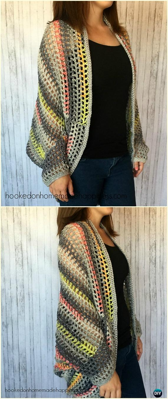 Crochet Women Shrug Cardigan Free Patterns Tutorials