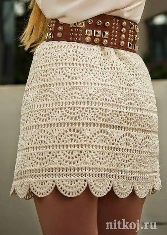 A-line Mini Skirt Crochet Free Pattern - #Crochet; Women #Skirt; Free Patterns For Any Season