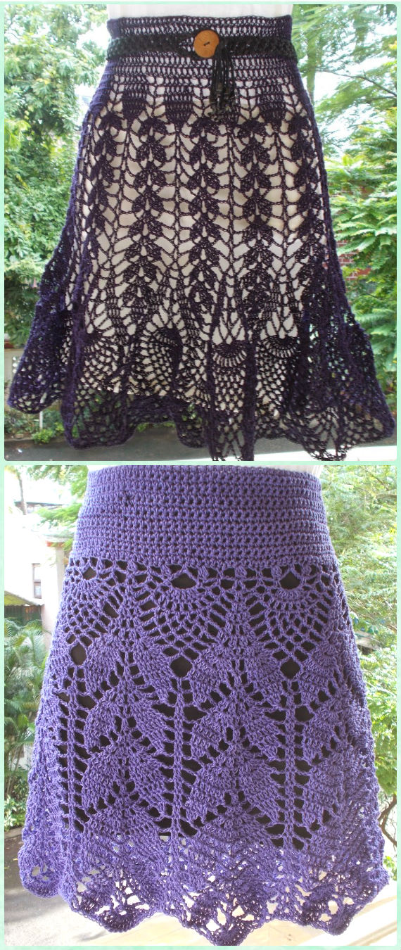 Crochet Women Skirt Free Patterns Instructions