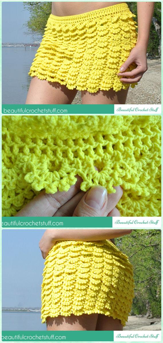 Crochet Layered Skirt Free Pattern - Crochet Women Skirt Free Patterns