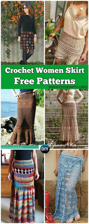 Collection of Crochet Women Skirt Free Patterns: Crochet Adult Skirts, Maxi Skirts, Lace Skirts, Beach Skirts, Wrap Skirts
