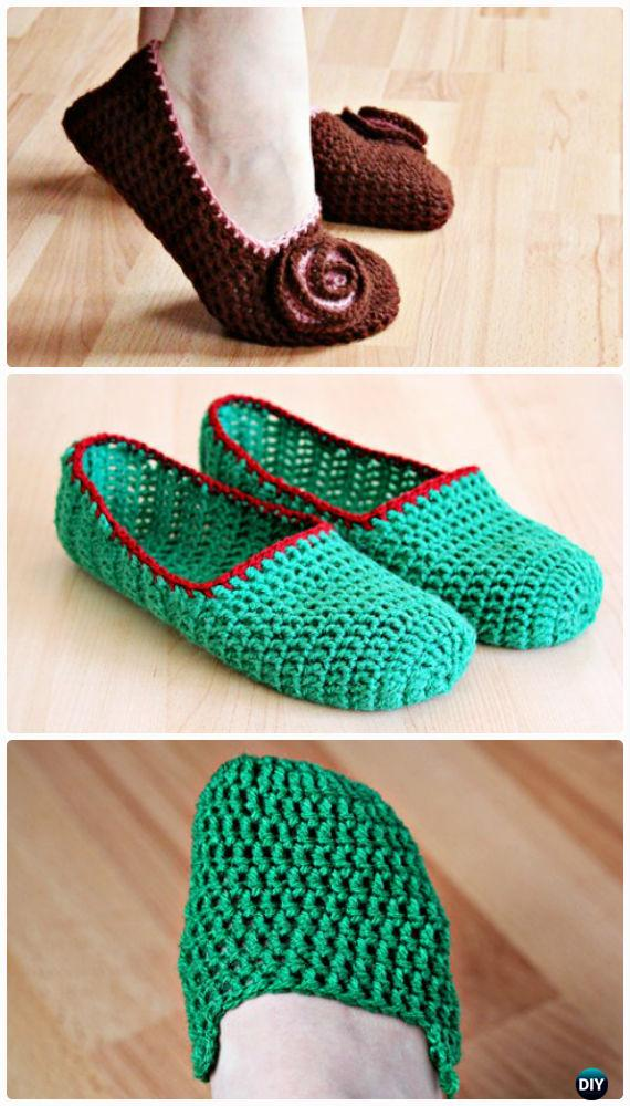 Simple Crochet Slippers Free Pattern - Crochet Women Slippers Free Patterns
