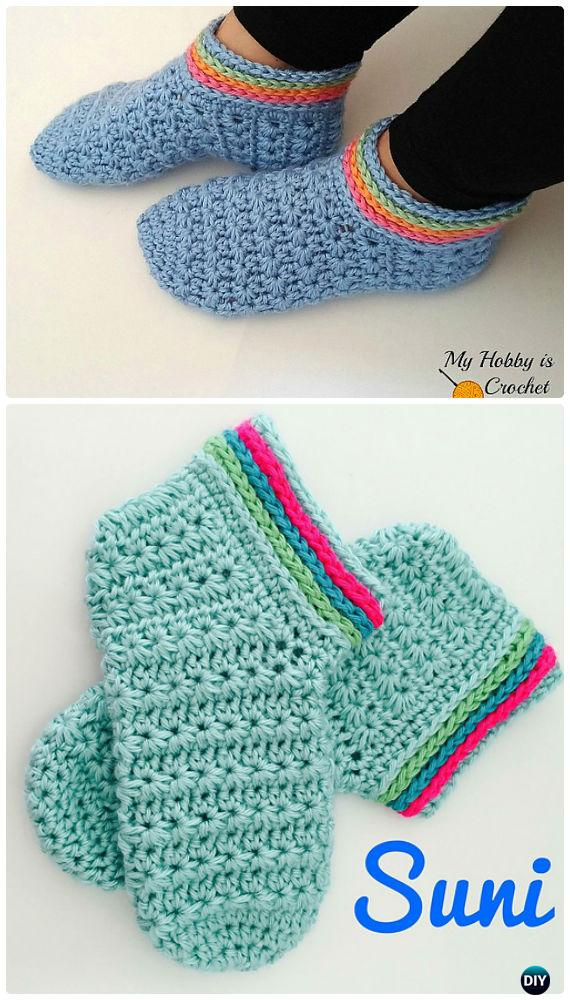 Crochet Starlight Women Slippers Free Pattern - Crochet Women Slippers Free Patterns
