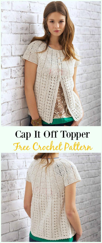 Crochet Cap It Off Topper Cardigan Free Pattern Crochet Women