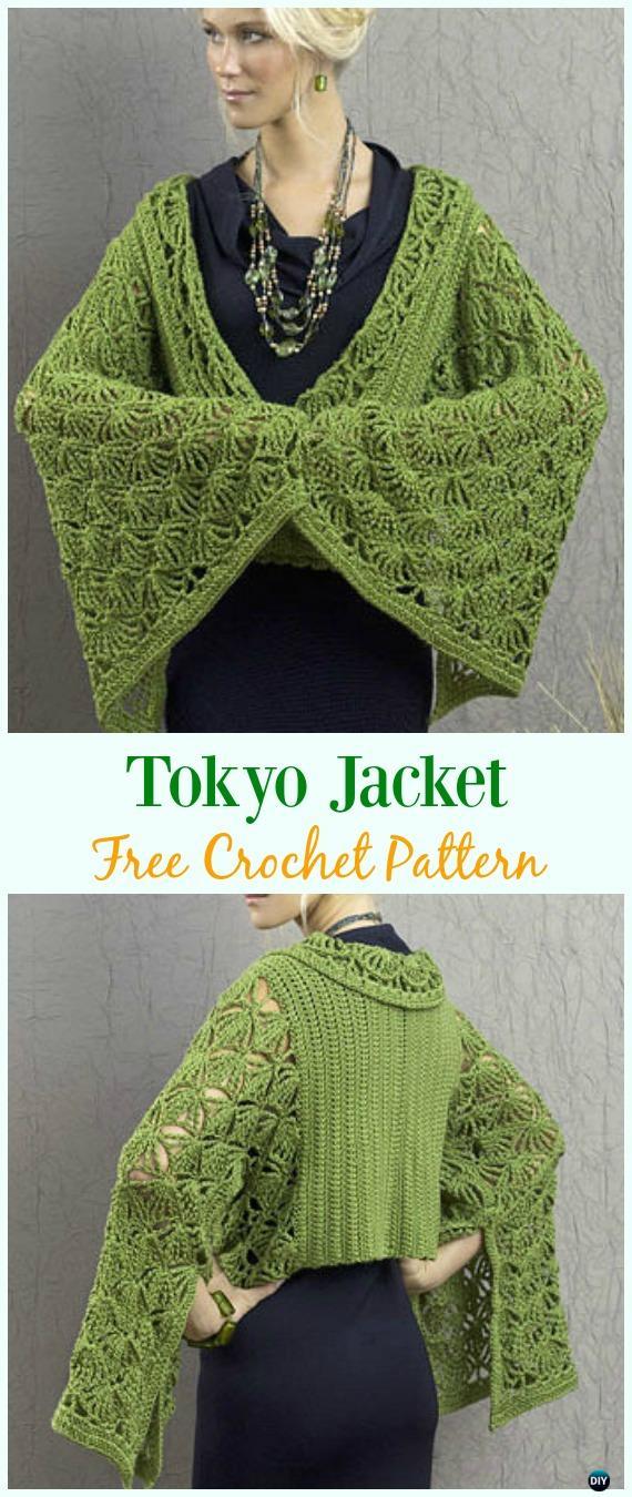 Crochet Tokyo Jacket Free Pattern - Crochet Women Summer Jacket Cardigan Free Patterns