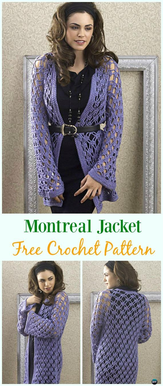 Crochet Montreal Jacket Free Pattern - Crochet Women Summer Jacket Cardigan Free Patterns