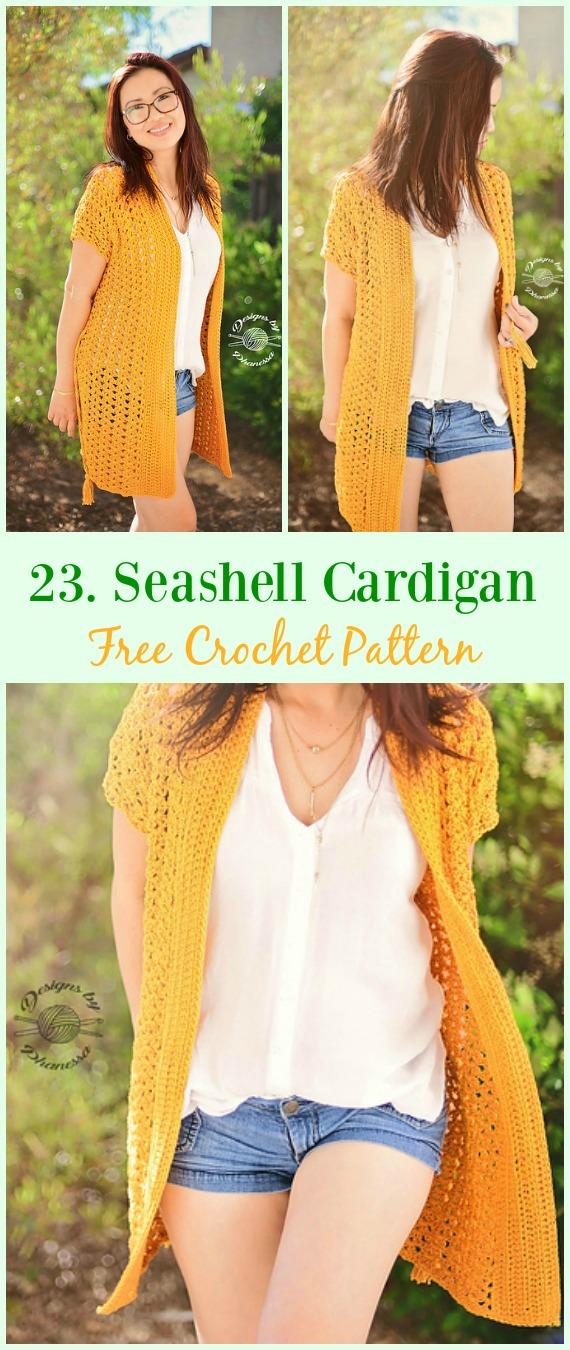 Seashell Cardigan Free Crochet Pattern Crochet Women Summer