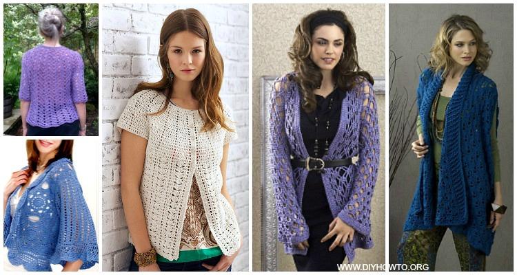 509989a3ffc0eb Crochet Women Summer Jacket Cardigan Free Patterns