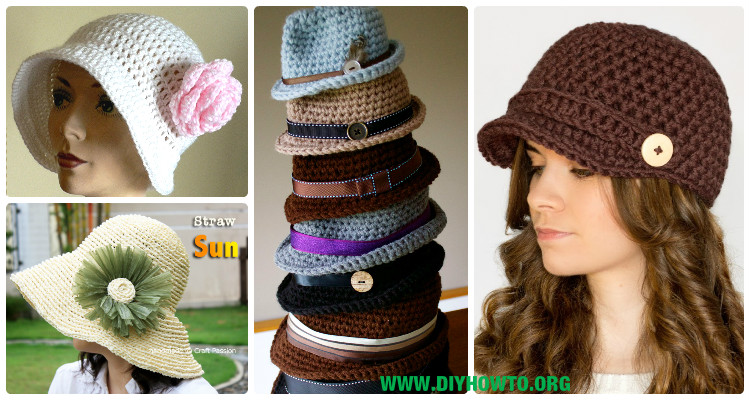 Crochet Hat Free Pattern Woman : Crochet Women Sun Hat Free Patterns