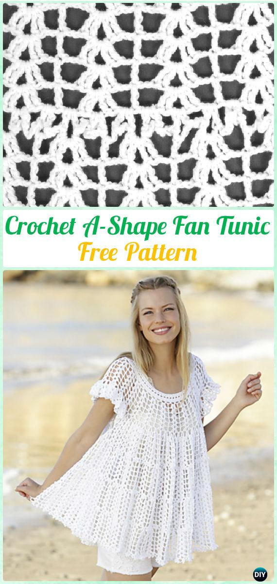 Crochet Women Pullover Sweater Free Patterns [Tops & Tunics]