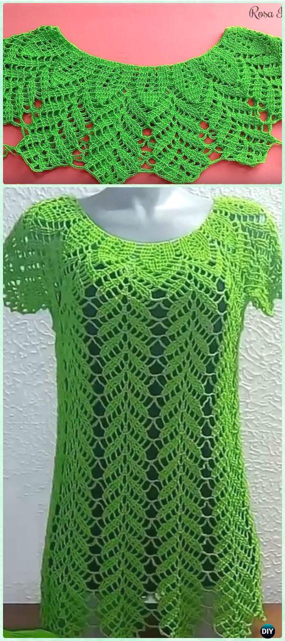 Crochet Women Pullover Sweater Free Patterns Tops Amp Tunics