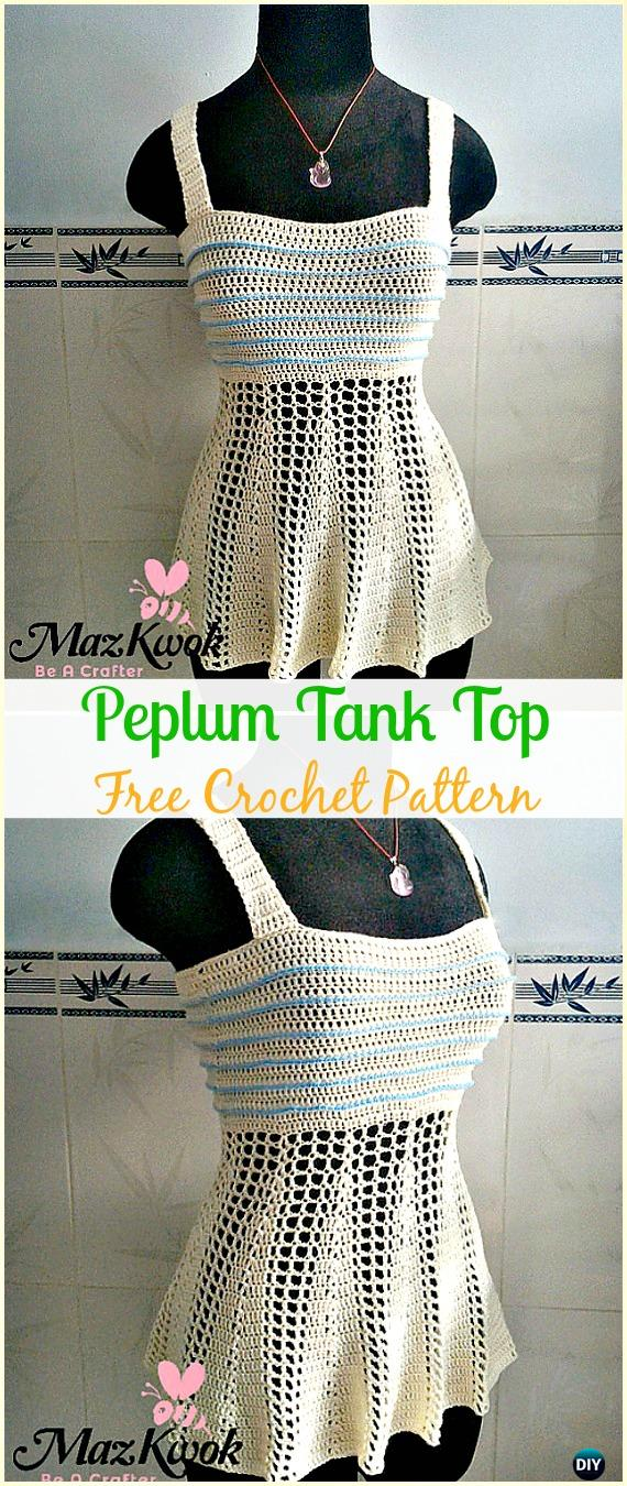 Crochet Peplum Tank Top Free Pattern Crochet Women Sweater