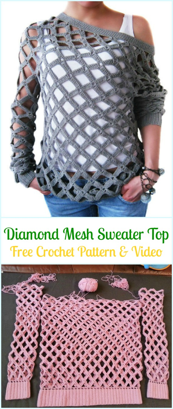 Pullover Free Crochet Sweater Patternstopsamp; Tunics Women WIHY2DbeE9