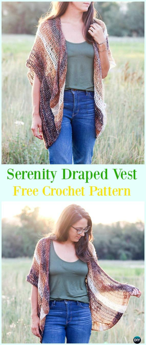 Crochet Women Vest Free Patterns Spring Summer Sweater