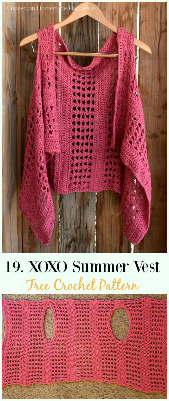 Xoxo Summer Crochet Vest Crochet Free Pattern Crochet Women