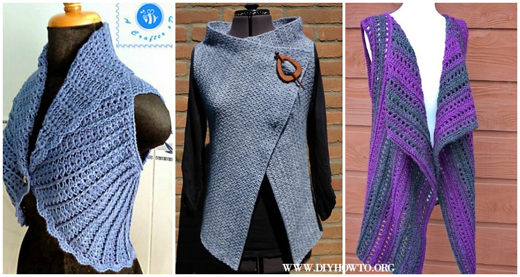 Crochet Women Vest Free Patterns Spring Summer Sweater