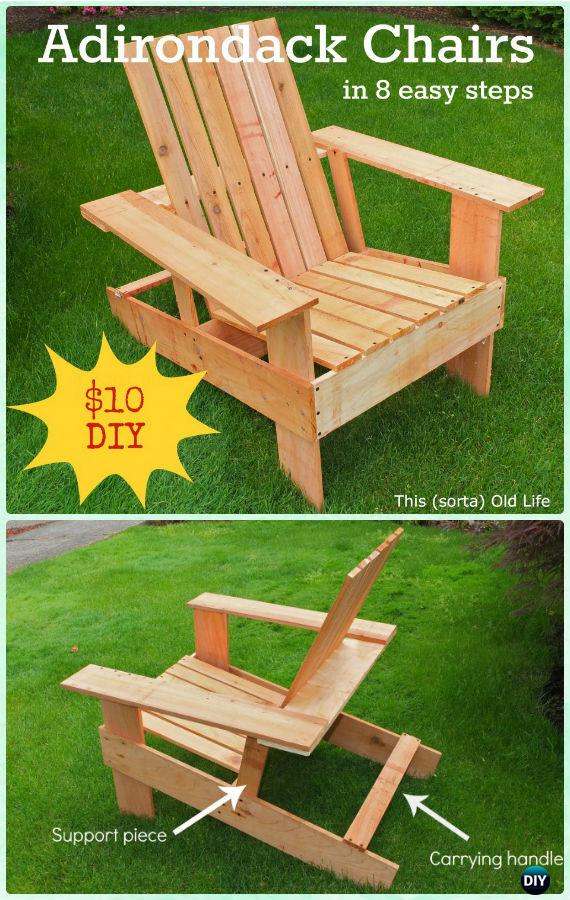 DIY 8-Step Adirondack Chair Free Plan and Tutorial