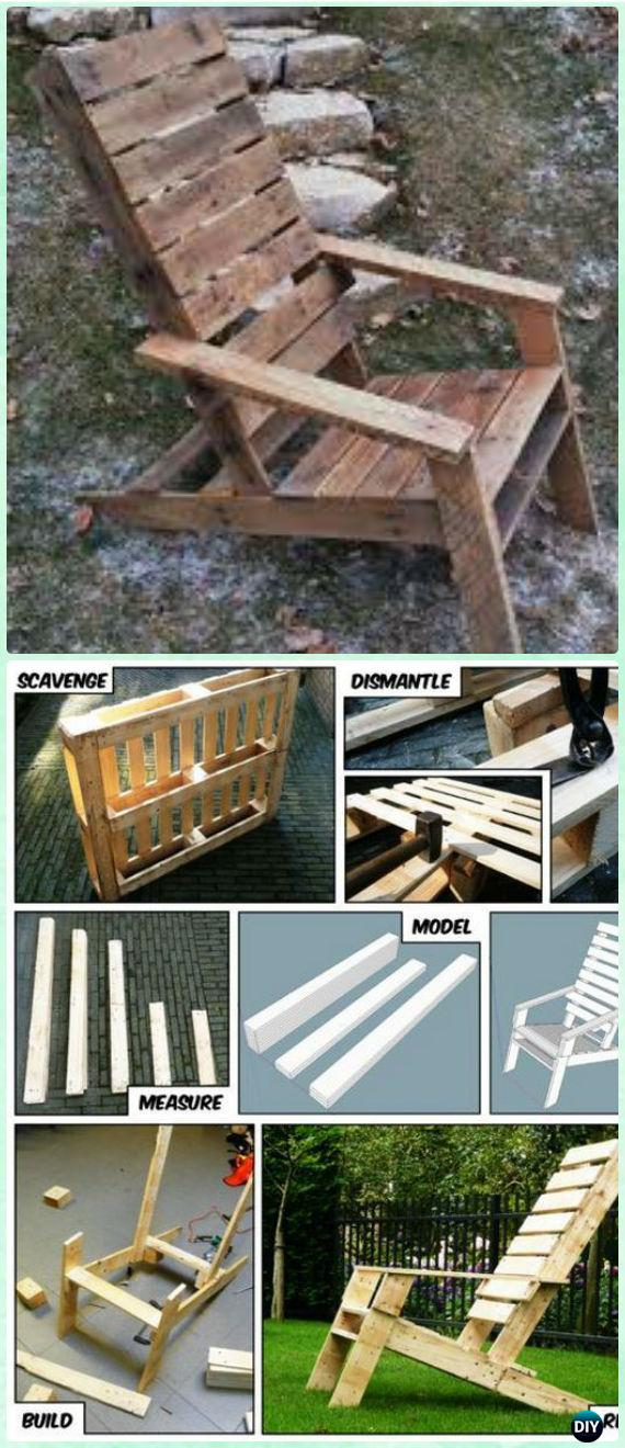 DIY One Pallet Adirondack Chair Free Plan and Tutorial