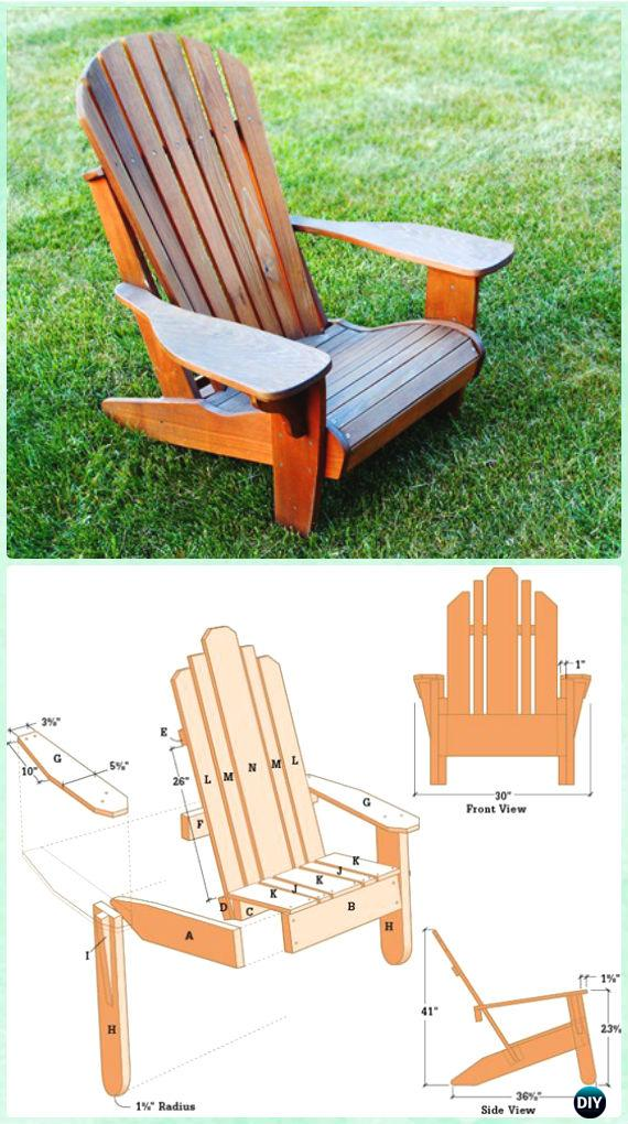 DIY Cedar Adirondack Chair Free Plan and Tutorial