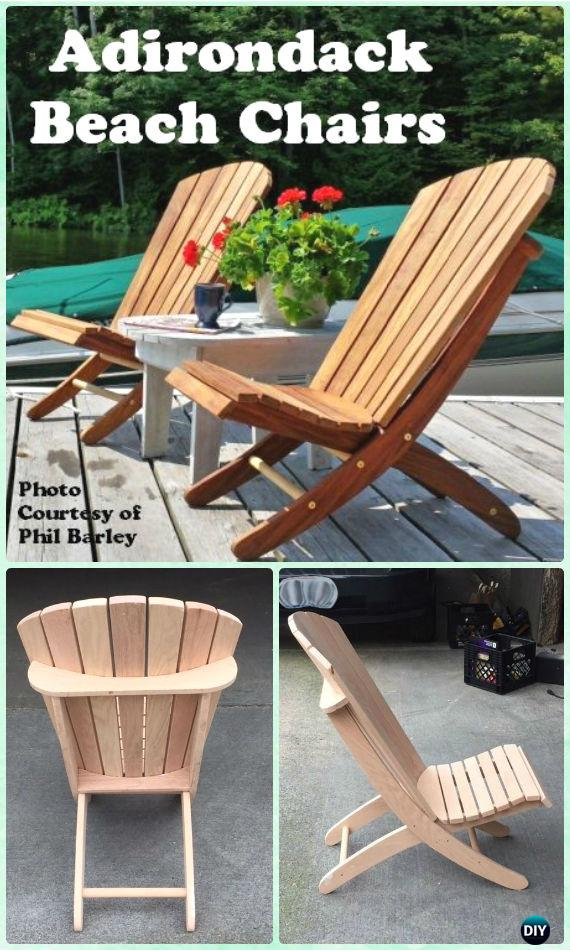 DIY Adirondack Beach Chair Free Plan and Instructions