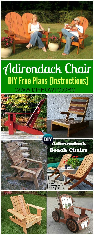 Diyhowto Diy Adirondack Chair Free Plans Instructions Pin