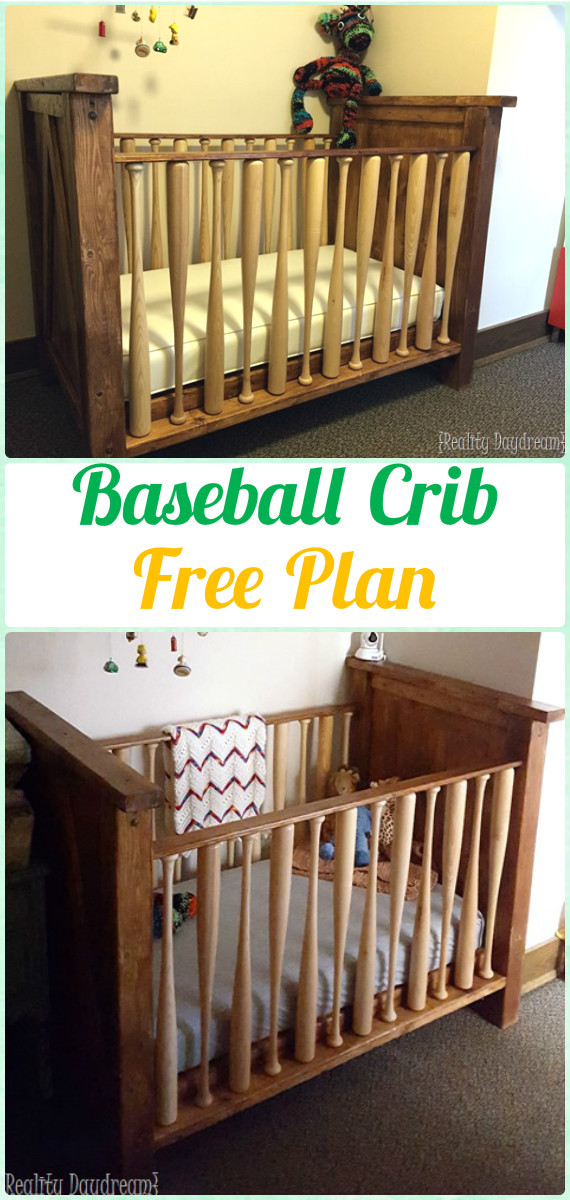DIY Baseball Wood Crib Instruction - DIY Baby Crib Projects [Free Plans]