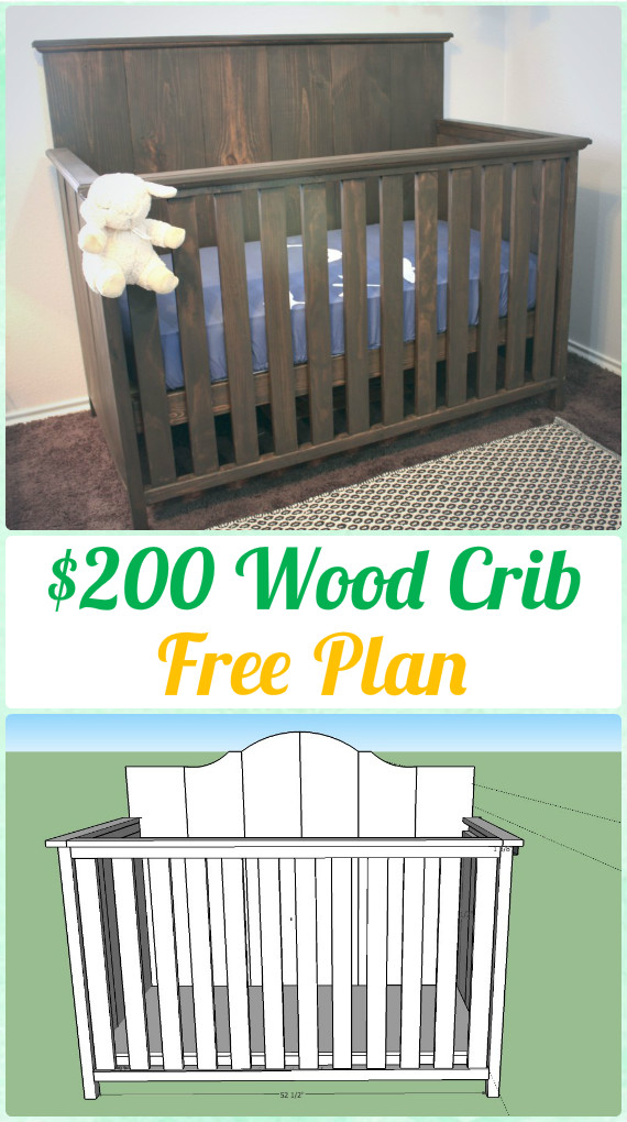 DIY $200 Wood Crib Instruction - DIY Baby Crib Projects [Free Plans]