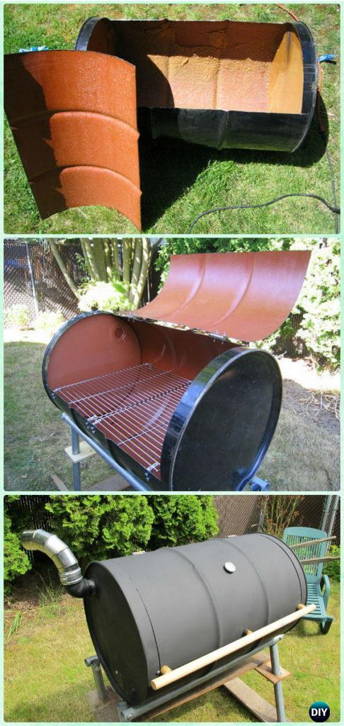 DIY BBQ Barrel Grill Instruction - DIY Backyard Grill Projects
