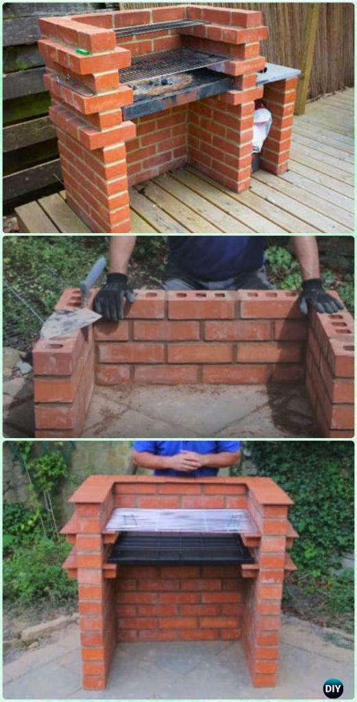 Diy backyard bbq grill projects instructions for Diy brick projects