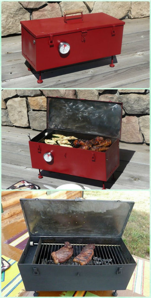 DIY Portable Toolbox Grill Instruction - DIY Backyard Grill Projects